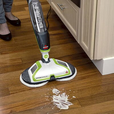 Bissell SpinWave 2039A Hard Floor Cleaner White Mess Cleaning